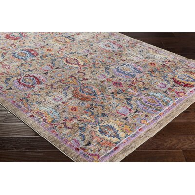 Turner Vintage Camel/Blue Area Rug Rug Size: Rectangle 9 x 13
