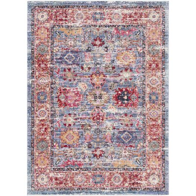 Turner Vintage Blue/Red Area Rug Rug Size: 3 x 5