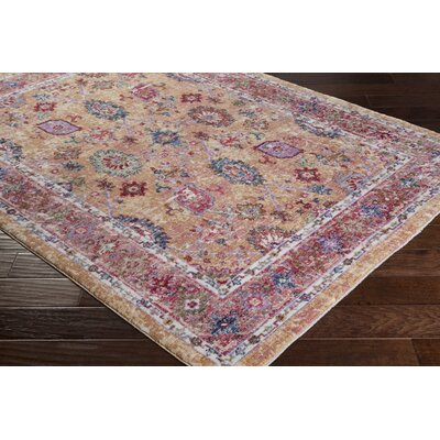 Turner Vintage Orange/Red Area Rug Rug Size: 3 x 5