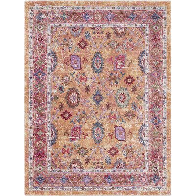 Turner Vintage Orange/Red Area Rug Rug Size: Rectangle 53 x 73
