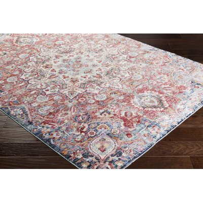 Turner Vintage Poppy/Blue Area Rug Rug Size: Rectangle 9 x 13