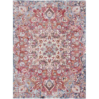 Turner Vintage Poppy/Blue Area Rug Rug Size: Rectangle 53 x 73