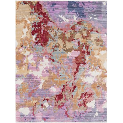 Turner Modern Abstract Pink Area Rug Rug Size: Rectangle 53 x 73