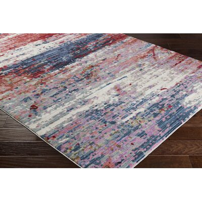 Turner Modern Abstract Red Area Rug Rug Size: Rectangle 9 x 13