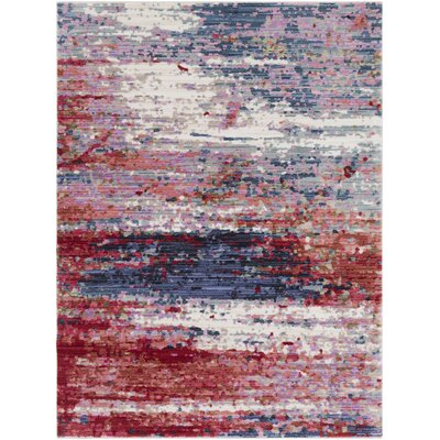 Turner Modern Abstract Red Area Rug Rug Size: Rectangle 53 x 73