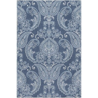 Kittelson Traditional Wool Navy/Aqua Area Rug Rug Size: Rectangle 5 x 76
