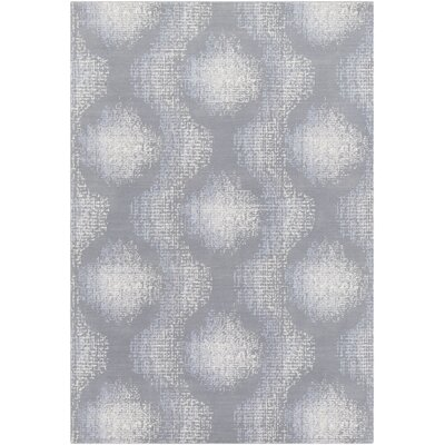 Chaim Modern Ikat Gray Area Rug Rug Size: Rectangle 5 x 76