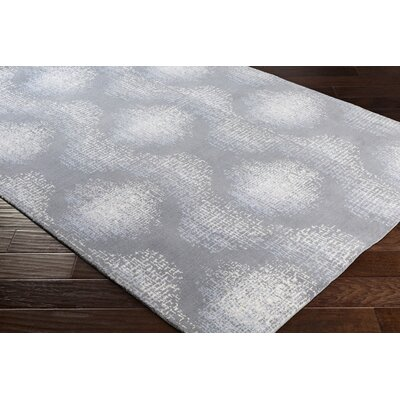 Chaim Modern Ikat Gray Area Rug Rug Size: Rectangle 36 x 56
