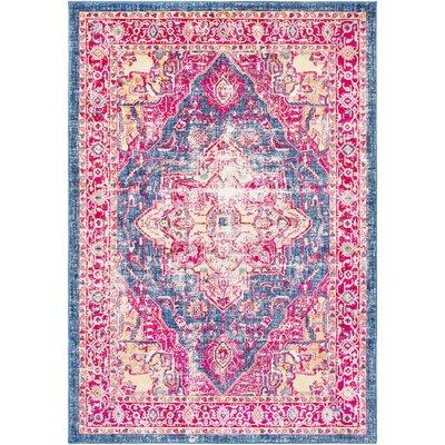 Woodward Oriental Blue Area Rug Rug Size: Rectangle 53 x 76