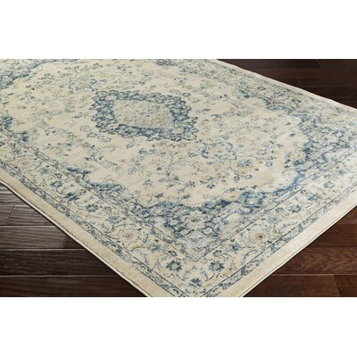 Weiss Vintage Floral Cream Area Rug Rug Size: Rectangle 710 x 103