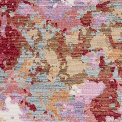 Rumi Modern Abstract Pink Area Rug