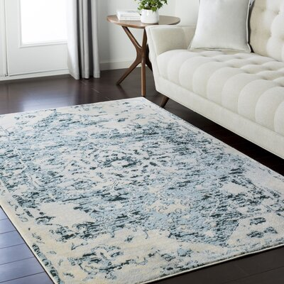 Synthia Traditional Dark Green Area Rug Rug Size: Rectangle 53 x 73