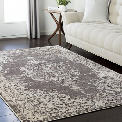 Synthia Dark Brown Area Rug Rug Size: Rectangle 53 x 73