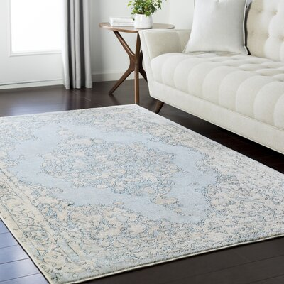 Asia Minor Blue/Green Area Rug Rug Size: Rectangle 93 x 123