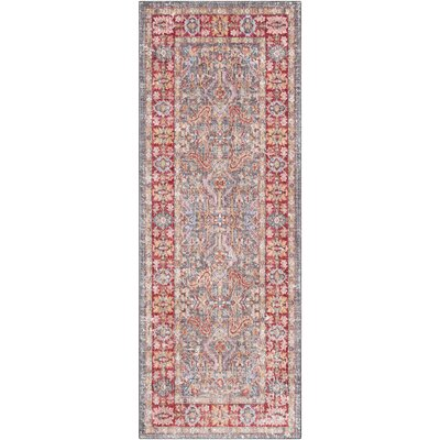 Rumi Traditional Border Red Area Rug Rug Size: Rectangle 3 x 5