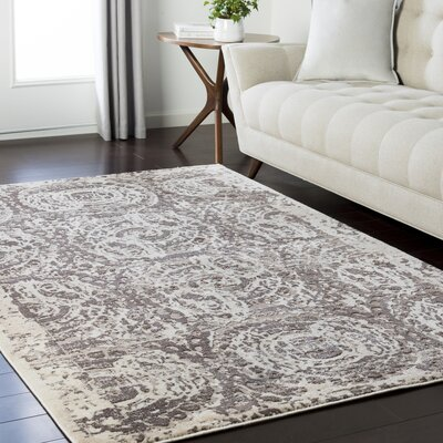 Synthia Brown/Cream Area Rug Rug Size: Rectangle 53 x 73