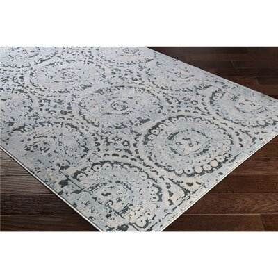 Synthia Blue/Green Area Rug Rug Size: Rectangle 710 x 103