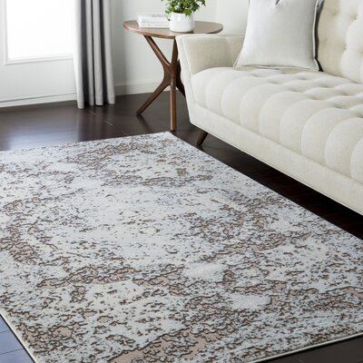 Synthia Brown/Blue Area Rug Rug Size: Rectangle 93 x 123