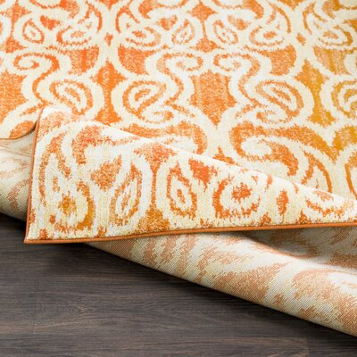 Courtney Orange Area Rug Rug Size: Rectangle 52 x 76