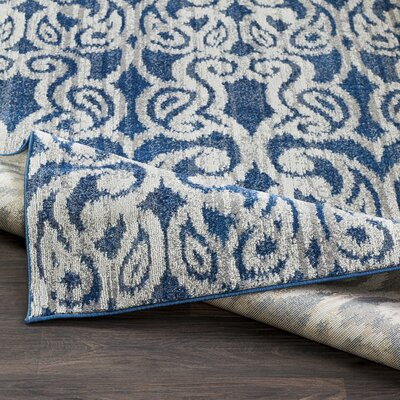 Courtney Denim/Navy Area Rug Rug Size: Rectangle 22 x 3