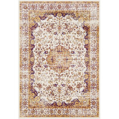 White City Vintage Distressed Eggplant/Rust Area Rug Rug Size: Rectangle 22 x 3
