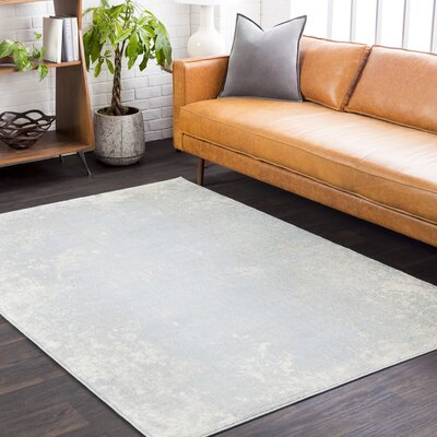 Candelaria Abstract Pale Blue/Light Gray Area Rug Rug Size: Rectangle 52 x 76