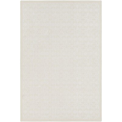 Fernisky Medallions and Damask Hand Woven Cream/White Area Rug Rug Size: Rectangle 6 x 9