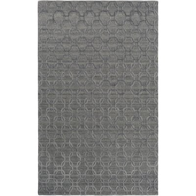 Elvira Geometric Hand Woven Medium Gray/Black Area Rug Rug Size: Rectangle 6 x 9