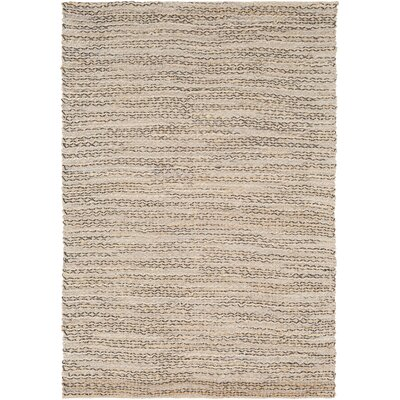 Falefa Hand Woven Beige/Charcoal Area Rug Rug Size: Rectangle 2 x 3