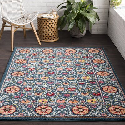 Camp Ellis Teal Area Rug Rug Size: Rectangle 710 x 103