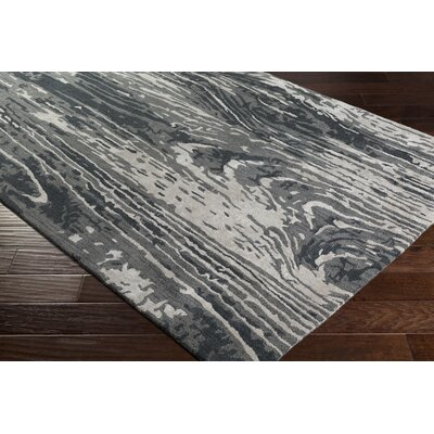 Fidela Abstract Hand Tufted Wool Charcoal/Taupe Area Rug Rug Size: Rectangle 8 x 11