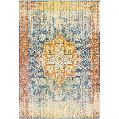 Tillamook Yellow/Blue Area Rug Rug Size: Runner 27 x 76