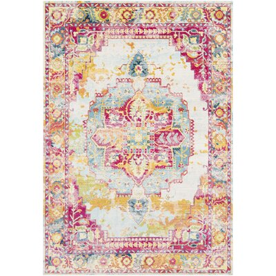 Tillamook Rose/Bright Pink/Sky Area Rug Rug Size: Rectangle 53 x 76