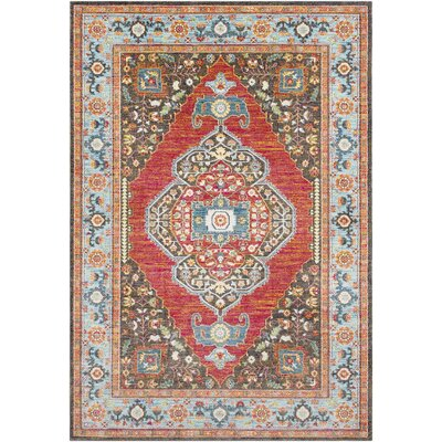 Tillamook Rose/Brown Area Rug Rug Size: Rectangle 2 x 3