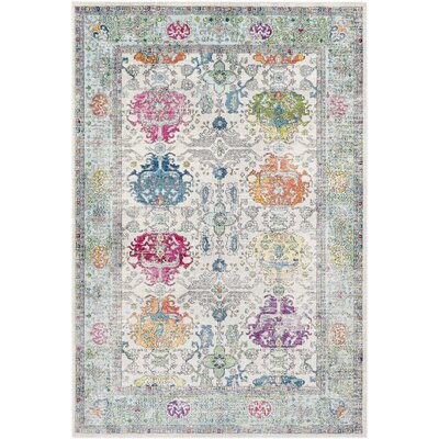 Tillamook Silk Beige/Sky Blue Area Rug Rug Size: Rectangle 53 x 76