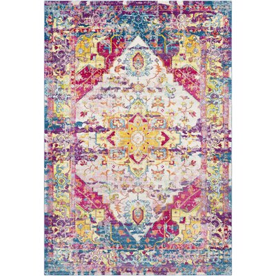 Tillamook Bright Pink/Rose/Blue Area Rug Rug Size: Rectangle 53 x 76