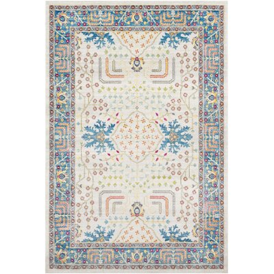 Tillamook Sky Blue/Beige Area Rug Rug Size: Rectangle 53 x 76