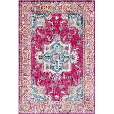 Tillamook Pink/Rose Area Rug Rug Size: Rectangle 710 x 103