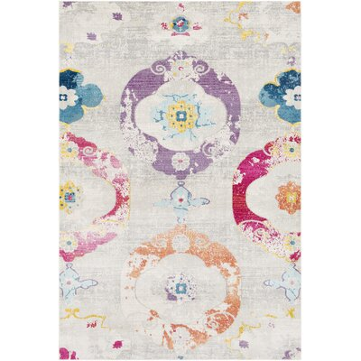 Tillamook Beige/Pink Area Rug Rug Size: Rectangle 53 x 76