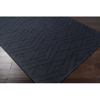 Pulcova Hand Woven Wool Black Area Rug Rug Size: Rectangle 2 x 3