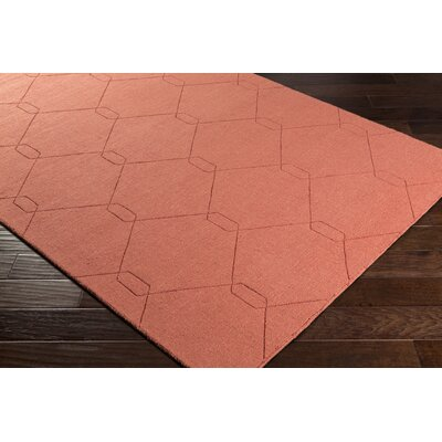 Pulcova Hand Woven Wool Burnt Orange Area Rug Rug Size: Rectangle 5 x 76