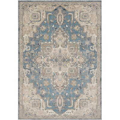 Richmondville Vintage Denim/Camel Area Rug Rug Size: Rectangle 76 x 96