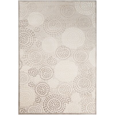 Reva Transitional Swirl Cream Area Rug Rug Size: Rectangle 52 x 76