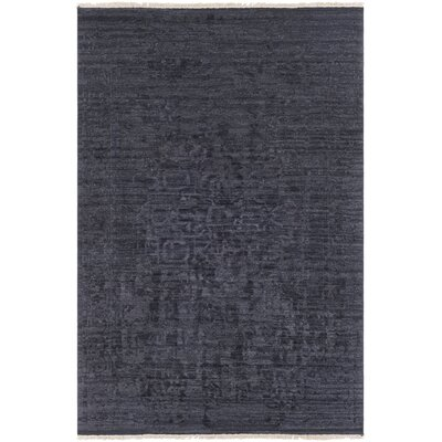 Rio Vista Hand Knotted Wool Black Area Rug Rug Size: 6 x 9