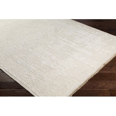 Rio Vista Hand Knotted Wool Cream Area Rug Rug Size: Rectangle 6 x 9
