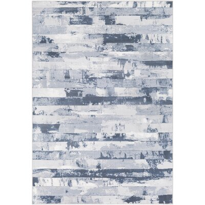 Carita Denim/Gray Area Rug Rug Size: Rectangle 92 x 129