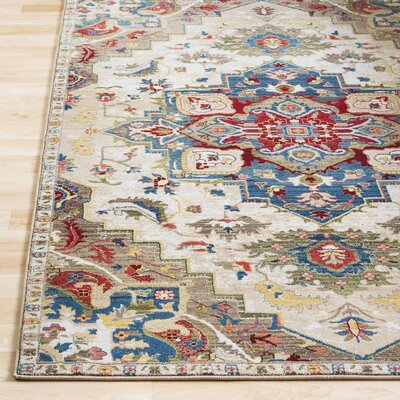 Arbouet Floral Brown/Cream Oriental Area Rug Rug Size: Rectangle 51 x 74