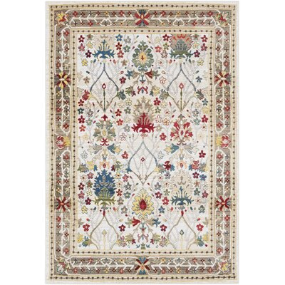 Arbouet Traditional Floral Dark Red/Cream Area Rug Rug Size: Rectangle 9 x 123