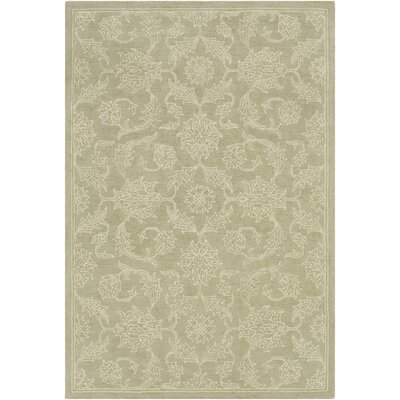 Argent Floral Hand Hooked Wool Sage Area Rug Rug Size: Rectangle 5 x 76