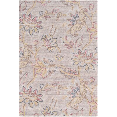 Arata Floral Hand-Tufted Wool Ivory Area Rug Rug Size: Rectangle 5 x 76
